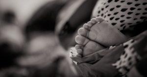 Child's Feet B&W